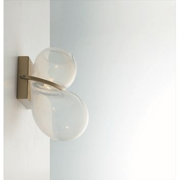 Balloon Hand-Blown Glass & Brass Wall Light
