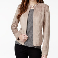 American Rag Zipper-Front Faux-Suede Jacket, Only at Macy's | macys.com