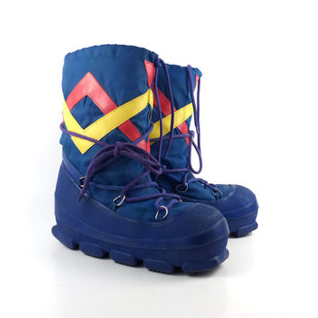 Moon Snow Boots Vintage Winter Lounger apres ski size 7-8
