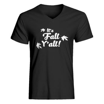 Mens It's Fall Y'all V-Neck T-shirt