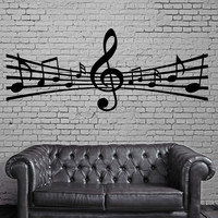 Notes Music Paper Song Composing Art Wall MURAL Vinyl Art Sticker (m030)