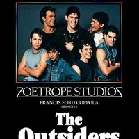 The Outsiders Movie Poster (27 x 40 Inches - 69cm x 102cm) (1982) Style B -(C. Thomas Howell)(Matt Dillon)(Ralph Macchio)(Patrick Swayze)(Diane Lane)(Tom Cruise)