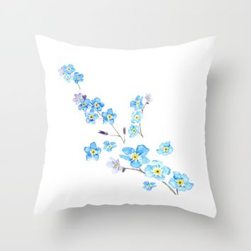 forget me not  Throw Pillow by Color And Color