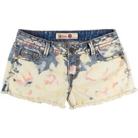 1st Kiss Bleached Tie Dye Denim Shorts