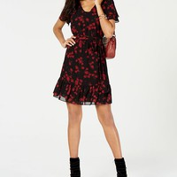 Michael Kors Floral-Print A-Line Dress in Regular & Petite Sizes Women - Dresses - Macy's