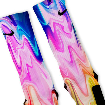 Liquid Rainbow Customized Nike Elite Socks