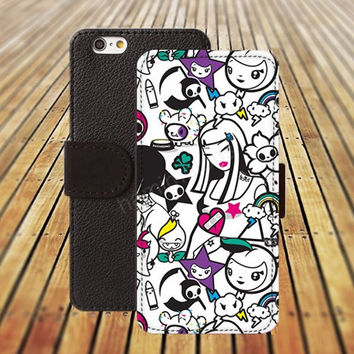 college Cartoon beauty diagram iphone 5/ 5s iphone 4/ 4s iPhone 6 6 Plus iphone 5C Wallet Case , iPhone 5 Case, Cover, Cases colorful pattern L052