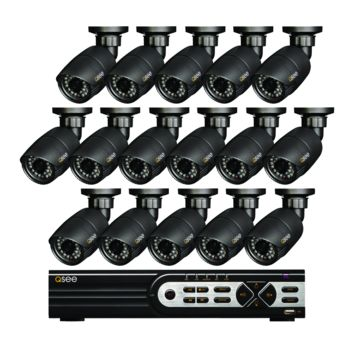 16 Channel HD Security System with 16 HD 720p Bullet  Cameras QT9316-16Y8-2
