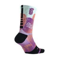 Nike Kyrie Elite Easter Crew Basketball Socks Size Small (Multi-Color)