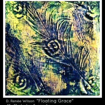 Floating Grace, Small Plaster Painting