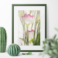 "Colorful Large Botanical Fine Art Print WaterColor Paper. ""Spring Time"" Fine Art Photography. Unique Colorful Floral  Country Decor"