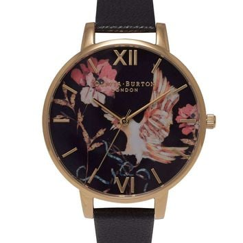 **Olivia Burton Oriental Opulence Black and Gold Watch