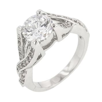 Brilliant Twist Engagement Ring Size 6