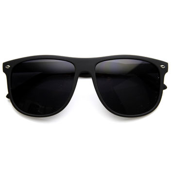 Large Retro Rubberized Horned Rim Sunglasses 8815
