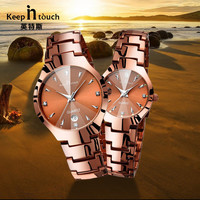 Watches Lovers' Steel Couple Luxury Men Watch Fashion Business Men Full Steel Watch Quartz Waterproof Women watches
