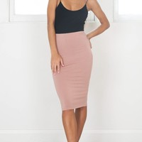 All We Ever Knew skirt in mocha Produced By SHOWPO