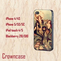 ipod 5 case,ipod 4 case,iphone 5s case,iphone 5c case,iphone 5 case,iphone 4 case,z10 case,blackberry q10 case--Little mermaid,in plastic.