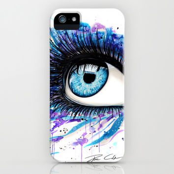 Open your eyes iPhone & iPod Case by PeeGeeArts