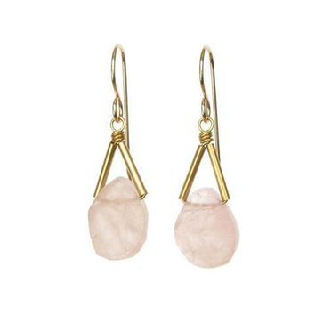 Rio Triangle Gemstone Earrings