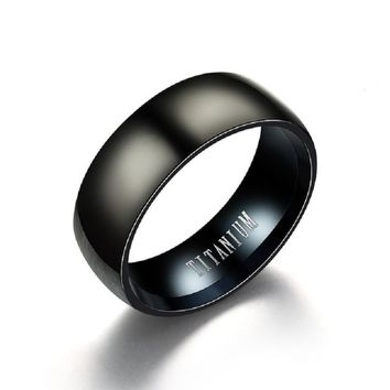 Black Titanium Steel Ring Men Matte Engagement Anel Masculino Rings For Male  Wedding bague Anillos Hombre Jewelry bijoux Z4
