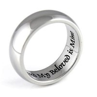 Promise Ring Purity Ring My Beloved Is Mine Stainless Steel Infinity Ring Poesy
