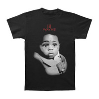 Lil Wayne Men's  Baby Pic T-shirt Black