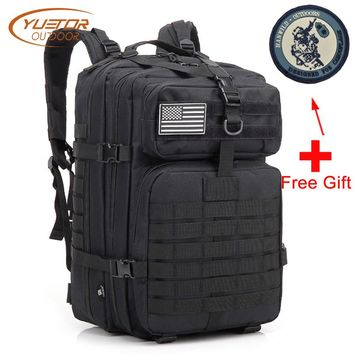 YUETOR OUTDOOR Molle Military Backpack Waterproof 40L Assault Pack Large Capacity Tactical Backpacks for Hiking Camping Hunting