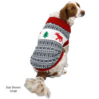 Holiday Reindeer Dog Sweater (Antique)
