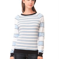 525 America Crew Neck Stripe - Light Heather