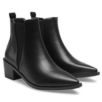 Leather-look Chelsea Boots from mobile - US$53.95 -YOINS