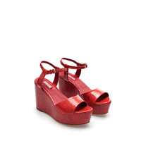 LACQUERED WEDGE - Stock clearance - Woman - Sale | ZARA United States