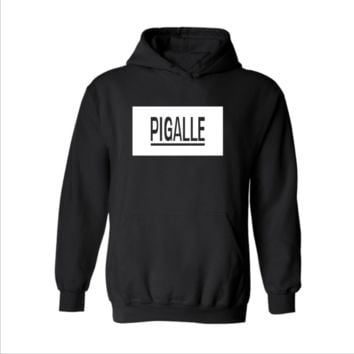Street PIGALLE A $ AP Rocky HBA PYREX men and women Hooded sweater coat cool Black