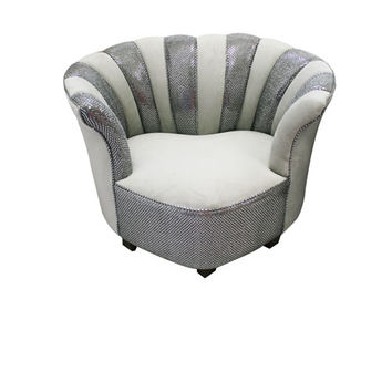 Komfy Kings, Inc 12656 Newco Kids Gray Velvet with Gray Sequins Sweetheart Tween Chair