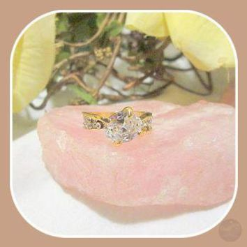 Happiness & Good Fortune White Topaz Ring