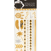 Metallic Flash Assorted Removable Tattoos -