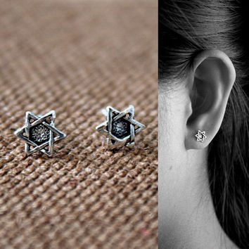 925 Sterling Silver Star of David Stud Earrings - bat mitzvah gift - hanukkah earrings - jewish jewelry - magen david earrings - Jewish gift