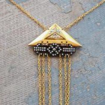 Shooting Star Necklace  Industrial Revolution by jessamity on Etsy