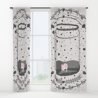 Whimsical love Window Curtains by famenxt