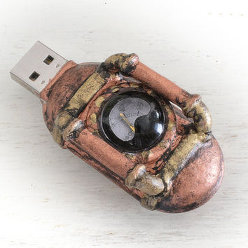 "16 GB USB ""The NAUTILUS"" Jules Verne Steampunk  flash memory"