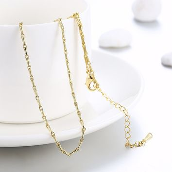 18K Gold Plated Mariner Link Chain Necklace