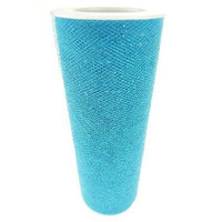 Tulle Spool Fabric Net with Glitters, 6-inch, 10-yard, Turquoise