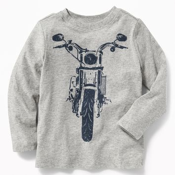 Graphic Long-Sleeve Tee for Toddler Boys|old-navy