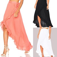 Women Split Skirt Summer Long Skirt New Women Ladies Skirts Chiffon Boho Beach Wrap Maxi