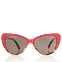 Red Cat Eye Capri Sunglasses | Prism | Avenue32