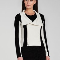 BCBGMAXAZRIA Jacket - Eva Color Block Moto