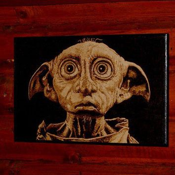 Dobby woodburned home decoration