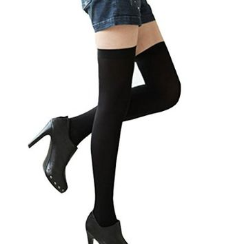 FUNOCfx209-HotPink Fashion Sexy Womens Over Knee Thigh High Stockings Socks