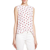Equipment Womens Lyle Silk Strawberries Tank Top
