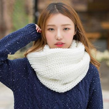 ESBU3C 2016 Fashion New Unisex Winter scarf knitted Scarves Collar Neck Warmer woman's Crochet Ring Spain Loop women Scarves