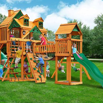 Gorilla Playsets Treasure Trove I Malibu Wooden Swing Set